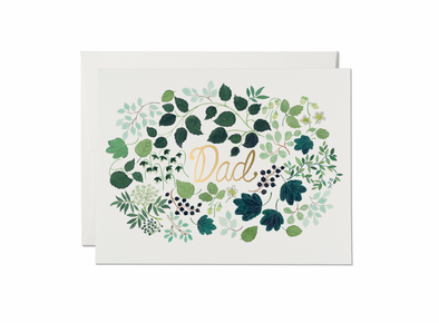 Green Floral Burst Father's Day Card