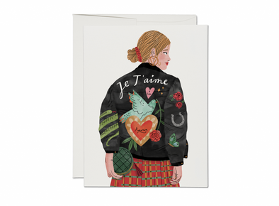 Je T'aime Jacket Friendship Card