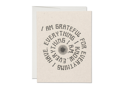 Grateful for Everything Spiral Card