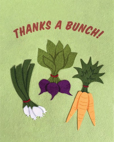 Veggie Bunch Thanks Card