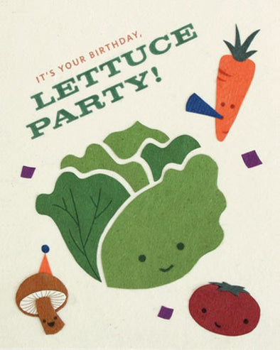 Lettuce Party Birthday Card
