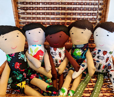 Multicultural Cloth Dolls