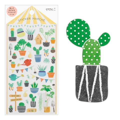 Marche Cactus Sticker Sheet