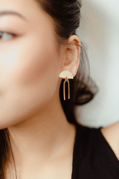 Brass Earrings, No. 27