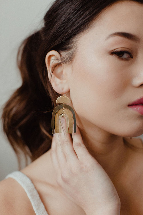 Brass Earrings, No. 28