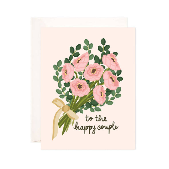 Happy Couple Bouquet Greeting Card