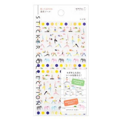 Mini Sticker Sheet: Yoga
