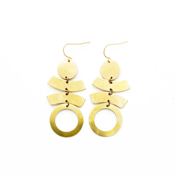 Brass Earrings, No. 33