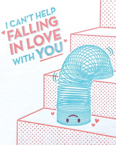 Falling In Love Slinky Card