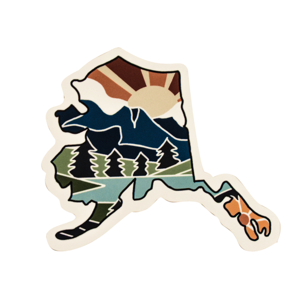 Alaska Outline Sticker