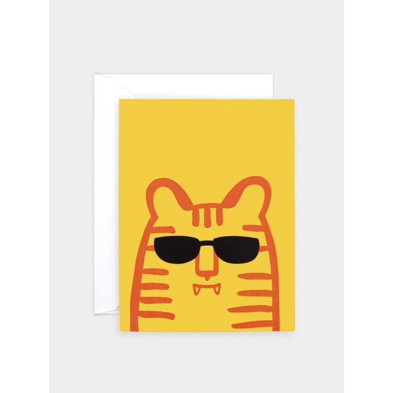 Tiger Sunglasses Card