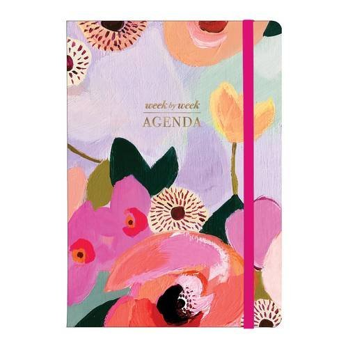 Painted Petals Gilded Undated Agenda