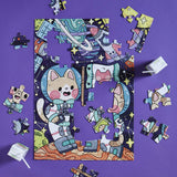Piece it Together Family Puzzle: Catstronauts!