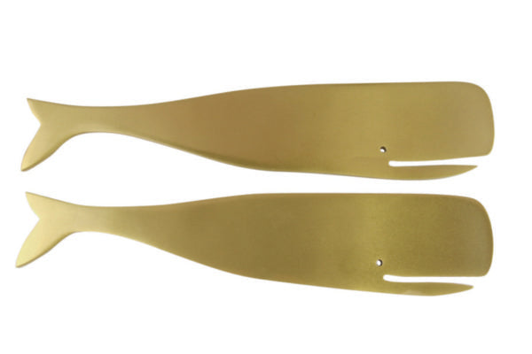 Gold Whale Server Set of 2