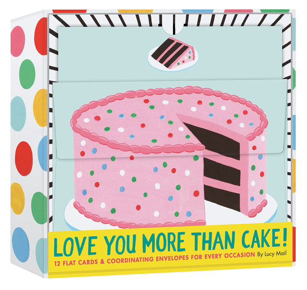Love You More Than Cake: 12 Flat Cards