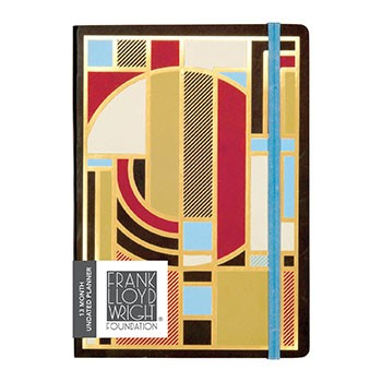 Frank Lloyd Wright Gilded Undated Planner