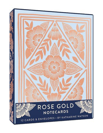 Rose Gold Notecard Set
