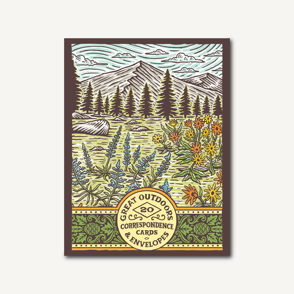 Great Outdoors Correspondence Cards and Envelopes