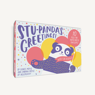 Stu-Pandas Greetings! 10 Pull-Tab Cards & Envelopes