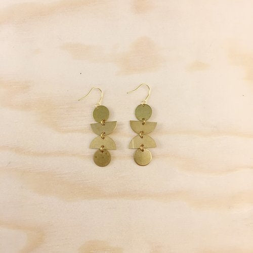 Brass Earrings, No. 20