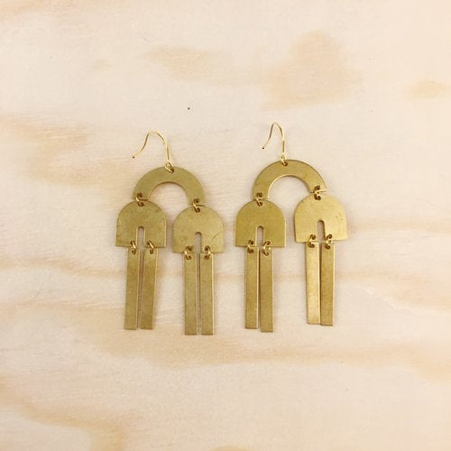 Brass Earrings, No. 16
