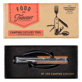 Camping Cutlery Tool Wood and Stainless Finish