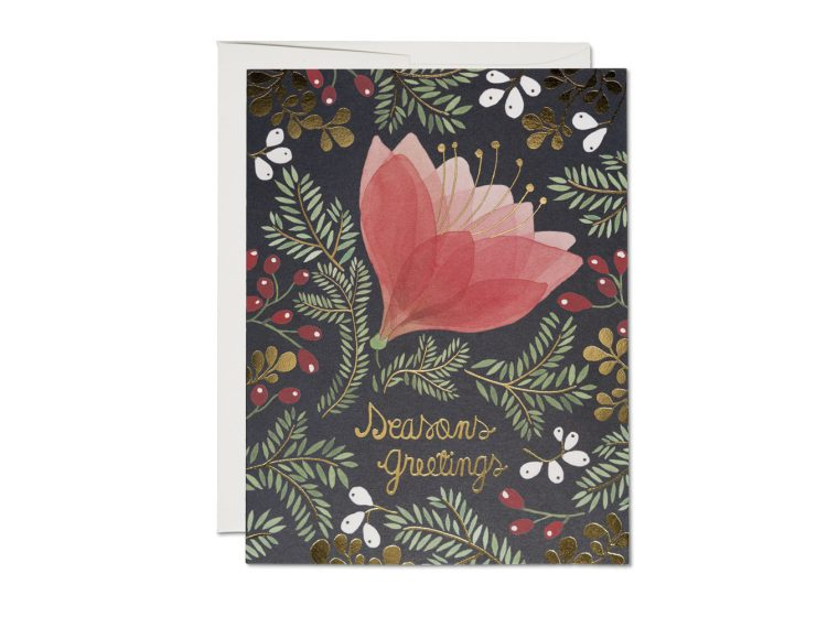 Amaryllis Foil Holiday Card