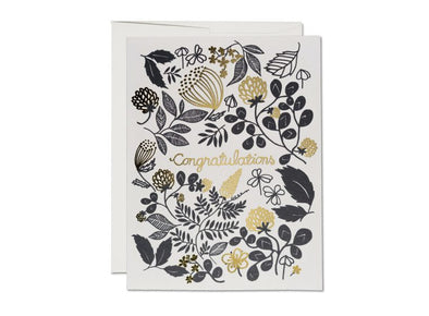 Clover Gold Foil Congratulations Card
