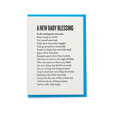 A New Baby Blessing Card