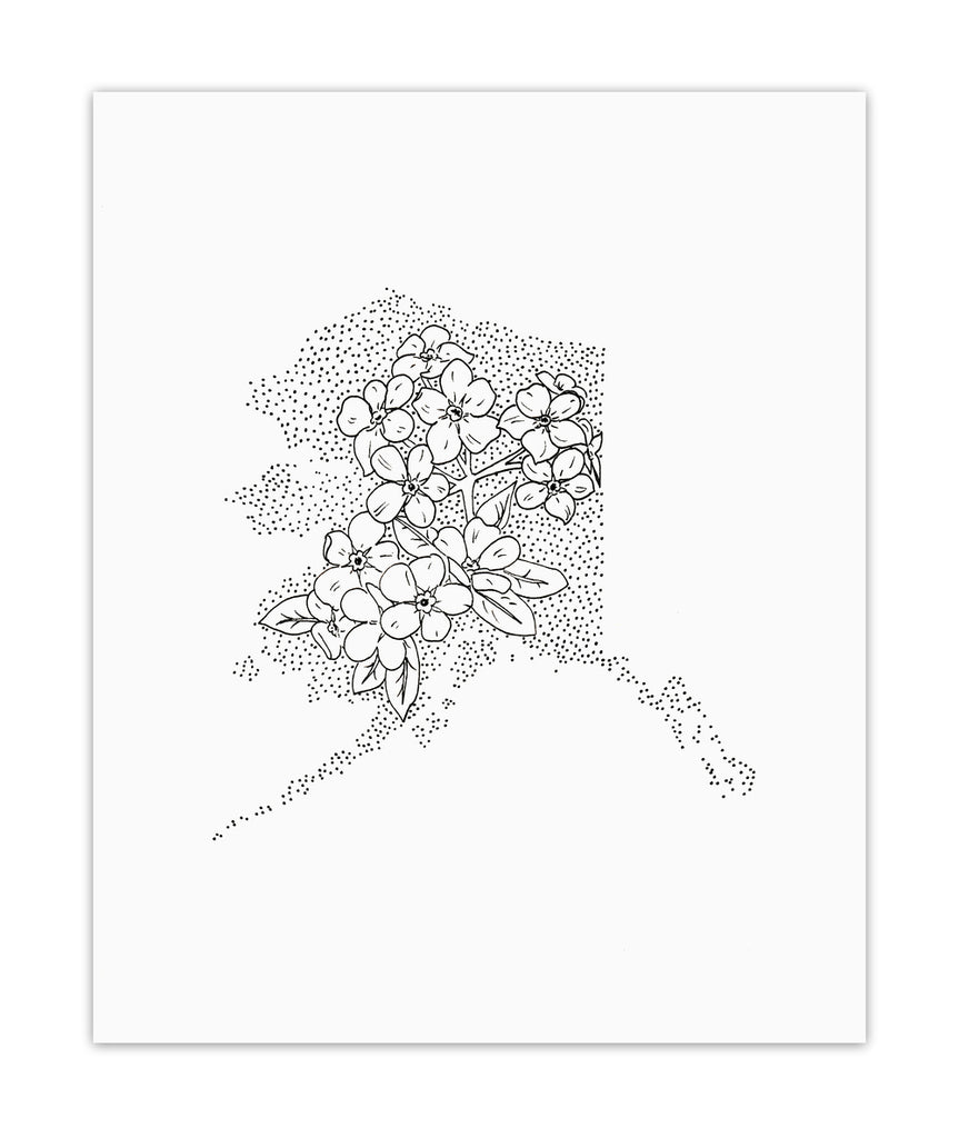 Alaska + Forget-Me-Not Print