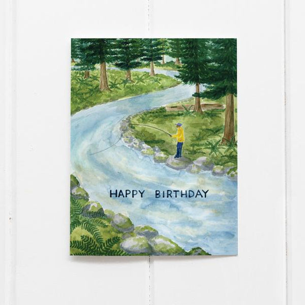 Birthday Fishing Card