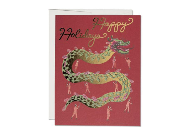 Holiday Dragon Foil Card