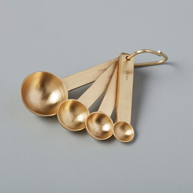 Gold Measuring Spoons Set of 4