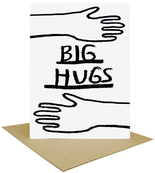 Big Hugs Letterpress Card