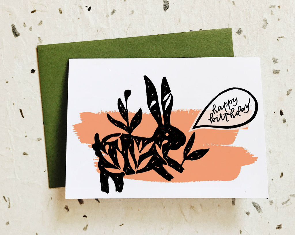 Happy Birthday! Bunny Card