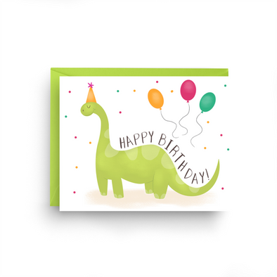 Birthday Dinosaur Card