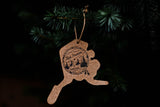 Leather Alaska Ornament