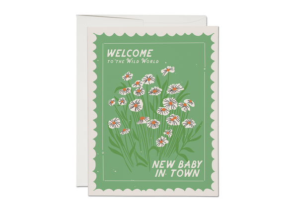 Wild World New Baby Card