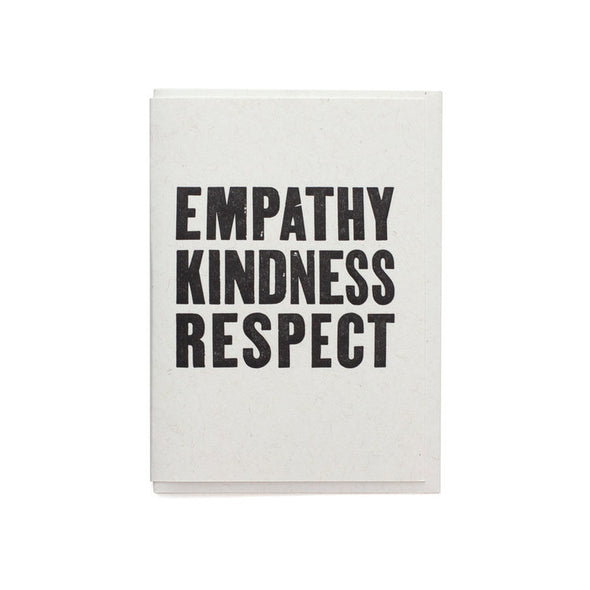 Empathy Kindness Respect Card