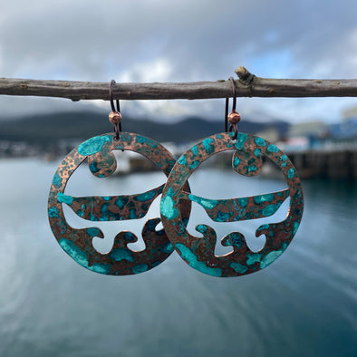 Ride the Wave Patina Earrings