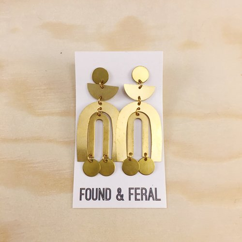 Brass Earrings, No. 7
