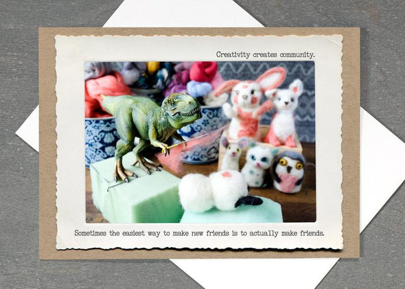 Friendship TRex Card