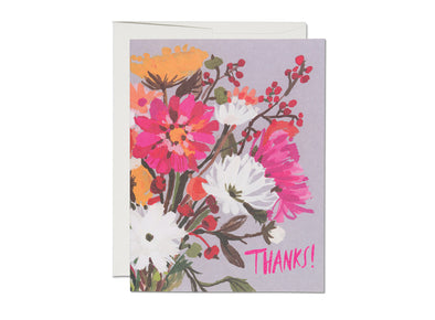 Vintage Bouquet Thank You Card