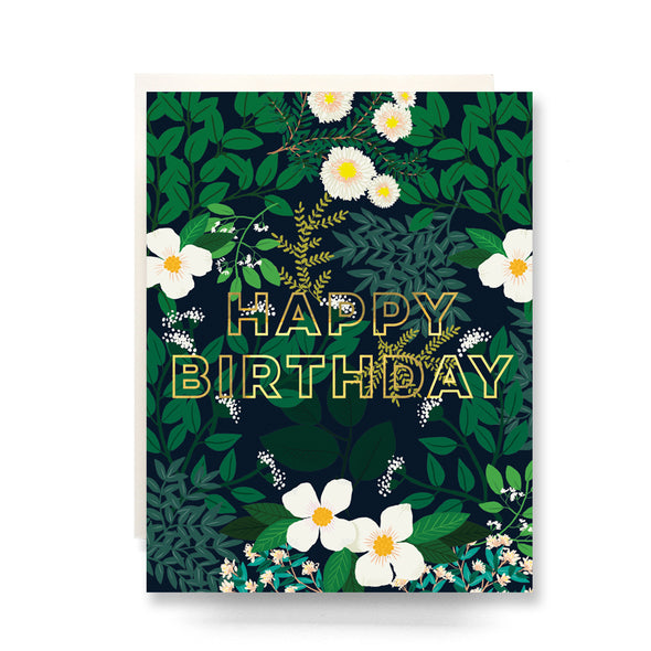 Secret Garden Birthday Greeting Card