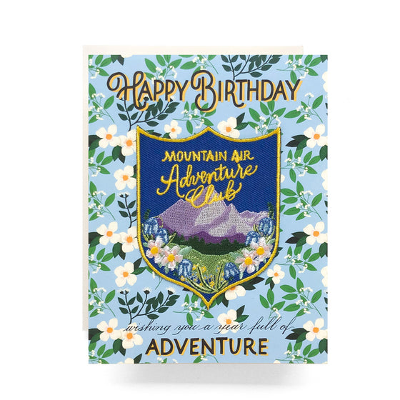 Patch + Card: Mountain Adventure Birthday