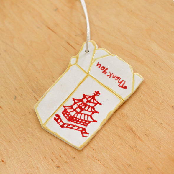 Takeout Ceramic Ornament