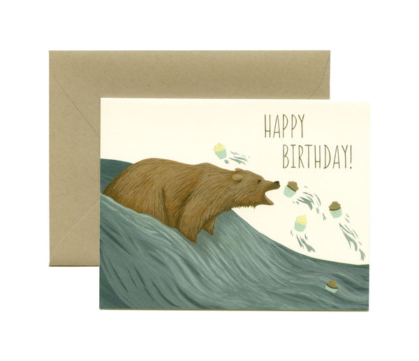Grizzly Bear Cupcakes - Card