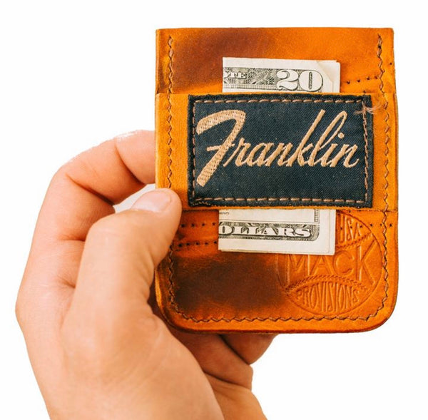 Vintage Baseball Glove Card Holder