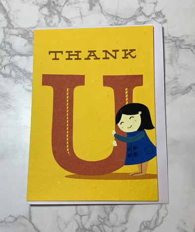 Thank U Hug Card