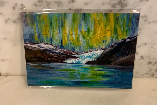 Northern Lights Puzzle Postcard